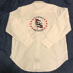 Vintage Tommy Hilfiger Big Logo Sailing Button Up